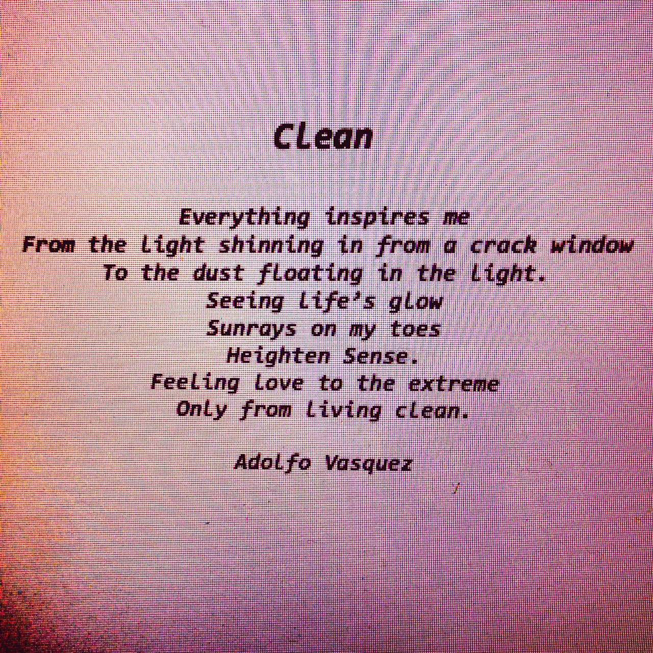 day 126 sober clean poem sober is the new black